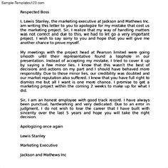Sample apology letter to send to teachers help express the right
