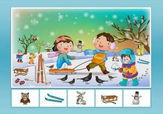 Cghh Preschool Math, Kindergarten, House Drawing For Kids, Advent Calendars For Kids, Winter Activities For Kids, Hidden Pictures, Theme Noel, Winter Kids, Teaching Science