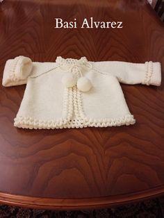 Lidy Dulce bebé. : Tutorial de la chaqueta azul con el borde a ganchillo. Baby Cardigan Knitting Pattern, Baby Knitting Patterns, Crochet Baby, Knit Crochet, Knit Baby Sweaters, Costumes, Babys, Fashion, Knit Baby Dress