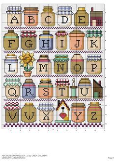 Alfabeto con barattoli.