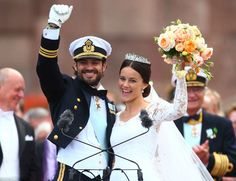 Royal Family Around the World: Sweden Royal Wedding: Prince Carl Philip Weds Sofia Hellqvist in the chapel at Stockholm's Royal Palace on June 13, 2015