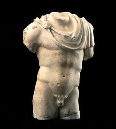 Torso of Mercury White marble with yellowish patina 2nd century A.D.