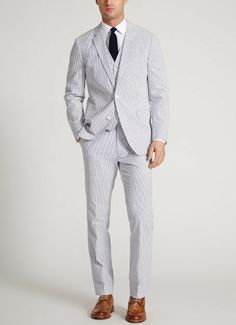 The Foundation - Seersucker - Blue & White   Bonobos Blue & White Cotton Seersucker Suit - Bonobos Men's Clothes - Pants, Shirts and Suits