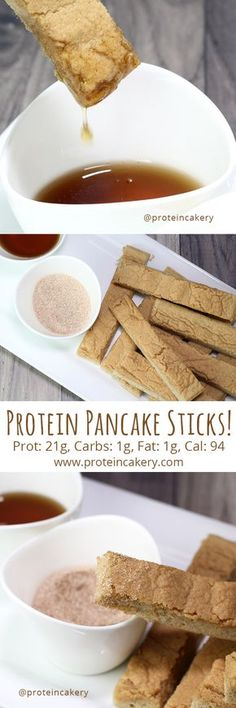 Protein Pancake Sticks - high protein, low carb - Andréa's Protein Cakery