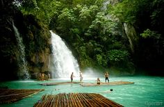 14 Unknown But Worth To Be Seen Places Kawasan Falls in Badian, Cebu, Philippines Places Around The World, Oh The Places You'll Go, Places To Travel, Travel Destinations, Places To Visit, Around The Worlds, Holiday Destinations, Voyage Philippines, Les Philippines