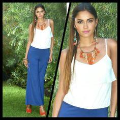 Déjate seducir por el azul royal! #Trendy #look #Fashion #Dupree