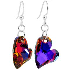 Limited Edition Devoted 2 You Volcano Heart Earrings MADE WITH SWAROVSKI ELEMENTS $14.99 #earring #piercing #heart #swarovski