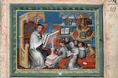 Peter the Eater (Petrus Comestor, also Peter the Devourer). His didactics? Many books, small groups. Medieval Manuscript, Illuminated Manuscript, African Royalty, School Daze, Teacher Appreciation Week, My Favorite Image, Dark Ages, Paris, Working Woman