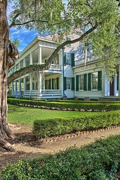This is Armand's plantation in Louisiana. Isn't it gorgeous! As soon as I saw Armand, I fell in love. I had no idea he had such a beautiful palace as a home. I know that we will all be so happy living here for the rest of our lives, and the slaves here Old Southern Homes, Southern Plantation Homes, Southern Mansions, Southern Belle, Plantation Houses, Country Homes, Southern Charm, Louisiana Plantations, Louisiana Homes
