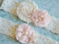 A personal favorite from my Etsy shop https://www.etsy.com/listing/252268451/garter-ivory-lace-beach-wedding-garter