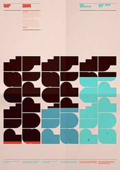 Poster about water supply, designed by Distrikt55 / United Kingdom - geometric type *PLEASE SUPPLY
