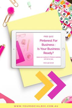 Is your business ready for Pinterest marketing? Whether you are a service provider, an e-commerce store or a blogger, Pinterest can be a really powerful platform for driving website traffic. Take the free quiz to help you determine if you are ready to start using Pinterest for Business. #pinterestmarketing #whypinterest #pinterestforbusiness #yoursocialbee Social Media Marketing, Digital Marketing, Pinterest Design, Pinterest For Business, Brodie Sangster, Thomas Brodie, Pinterest Marketing, Business Tips, Friendship