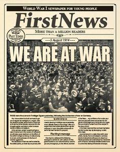 WORLD WAR ACTIVITIES | First News for Schools