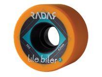 Tile Biter  Size: 37mm x 62mm and 31mm x 62mm Hub: Fiberglass Reinforced Urethane Cavity Back™ Hub Hardness: Black 92A, Orange 94A, Turquoise 96A  $89.95 Skate Wheels, Roller Derby, Cavities, Tile, Turquoise, Queen, Orange, Black, Mosaics