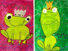 """Résultat de recherche d'images pour """"peinture grenouille maternelle"""" Preschool Art Projects, Preschool Themes, Projects For Kids, Frog Princess, Princess Art, Grade 1 Art, Fairy Tale Crafts, Frog Theme, Spring Art Projects"""