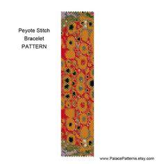 Peyote Stitch Bracelet Pattern - Klimt 4 - Delica 11/0 Pattern
