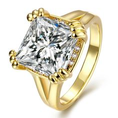 Plated Crystal Centerpiece Ring, Women's
