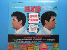 Elvis Presley DOUBLE TROUBLE LP LSP 3787  MGM movie soundtrack ELVIS #RocknRoll