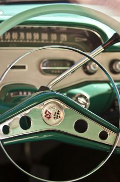 Vintage Motorcycles 1958 Chevrolet Impala Steering Wheel - Car Images by Jill Reger - 1958 Chevy Impala, Chevrolet Impala, General Motors, My Dream Car, Dream Cars, Cadillac, Muscle Cars, Vintage Cars, Antique Cars