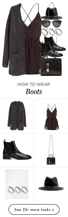 """Style #10326"" by vany-alvarado on Polyvore featuring H&M, ASOS, Alexander Wang, Yves Saint Laurent and rag & bone"