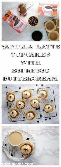 Vanilla Latte Cupcakes l sherisilver.com #GrabHolidayHappiness #ad
