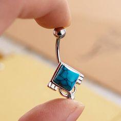 Turquoise piercing nombril bijoux de ventre nombril bague