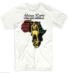 Details About Reggae T Shirts Jah Rastafari Haile Selassie Vybz Jah Rastafari, African Map, African Attire For Men, Loose Pants, African Fashion Dresses, Reggae, Black History, Tees, Ali