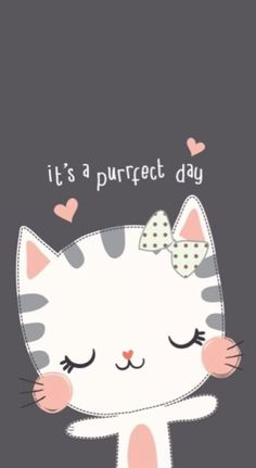Ideas For Cats Wallpaper Iphone Wallpapers Backgrounds - Kawaii wallpaper - Katzen Kawaii Wallpaper, Phone Wallpaper Cute, Cat Party, Cute Cartoon Wallpapers, Cute Illustration, Cat Love, Wallpaper Backgrounds, Iphone Wallpapers, Iphone Backgrounds