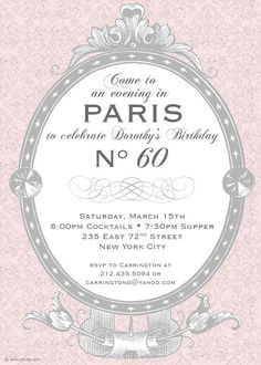Not as cheesy and tacky as some of the Paris themed invites out there -- quite cute actually!