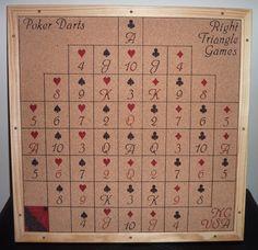 Reduced Price Poker Dartboard Love Poker by HandmadeDartboards