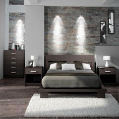 elvira bed - buy double bed with bed sides table from living