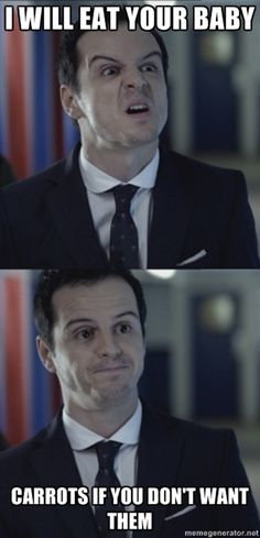More Misleading Moriarty. Will these ever get old? I don't think so. :) #Sherlock