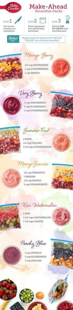 6 leckere Smoothies für einen erfrischenden Sommer!