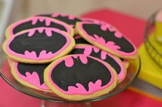 Super Heroes, Batman, Batgirl, Hot Pink, Yellow, Black Birthday Party Ideas   Photo 6 of 31   Catch My Party