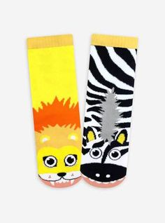 Pals Socks - Lion and Zebra