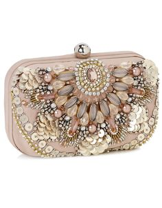 Amazing Phoebe Embroidered Hardcase Clutch  3890049600 £45.00 Beautiful must have embellished evening clutch with a dome clasp opening and satin Lining.