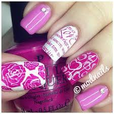 Resultado de imagen para uñas rosadas con diseños