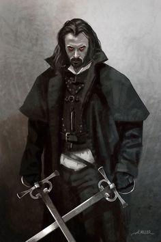 Vampire Knight, Aaron Miller on ArtStation at https://www.artstation.com/artwork/bnn0o