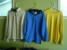 shirts in bargain_bin's Garage Sale in Belmond , IA for 2.00 each. 2 pull over fleece zip-up shirts 1 long sleeved shirt