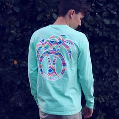 This is our new Pocketed Island Reef Tribal shirt sold on our website at USAPALM.COM  #PalmLife #USAPALM #SavetheOcean