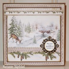 A wonderful card by Marianne featuring the new Glistening Season paper collection