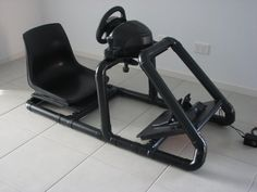 The 10 perfect Gaming Chairs models. create gaming chair car frame with PVC pipimg Racing Seats, Racing Wheel, Car Seats, Flight Simulator Cockpit, Racing Simulator, White Dining Chairs, Deck Chairs, Lounge Chairs, Nintendo 2ds