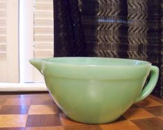 JADEITE FIRE KING Vintage Batter Bowl Mixing Bowl by tithriftstore, $45.00
