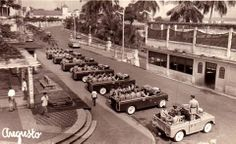 Guinea Ecuatorial (antigua Guinea española). Formación de LAND ROVER de la Guardia Civil. Años 50/60.