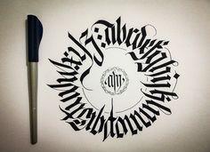 CALLIGRAPHY FRAKTUR • CIRCULAR ALPHABET on Behance