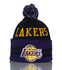 NEW ERA Basketball pom pom knit hat Fold up brim Stretch material for  ultimate comfort Embroidered team logo on front Thick threading for warmth e6ef8500be7c