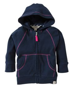 Love this Midnight Organic Zip-Up Hoodie - Infant, Toddler & Girls by Burt's Bees Baby on #zulily! #zulilyfinds