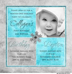 Sample Of Invitation Card For Christening And 1st Birthday. 1st birthday and christening baptism invitation sample  Baptism