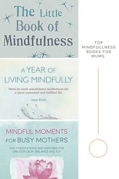 These are the best books for busy women wanting to introduce mindfulness into their lives. how to find calm as a busy mother, What is mindfulness, mindfulness books and self help guides. Mindfulness Books, Meditation Books, What Is Mindfulness, Daily Meditation, Little Books, Good Books, Mindful Living, Finding Peace, Positive Mindset