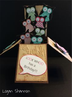 Owl card in a box #cardinabox